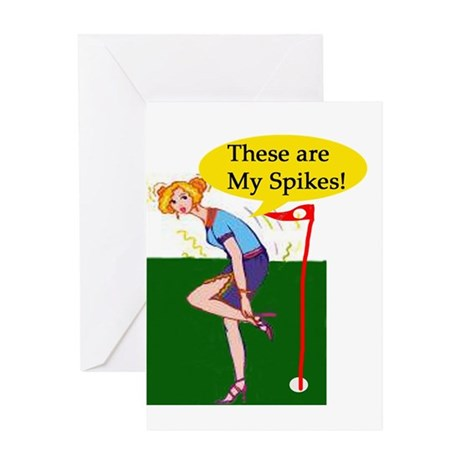 Spiked Golf Greeting Card