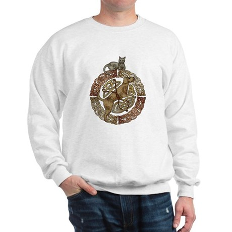 Celtic Cat and Dog Sweatshirt