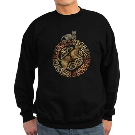 Celtic Cat and Dog Sweatshirt (dark)