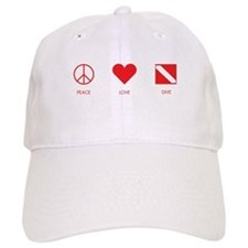 Peace Love Dive Baseball Cap