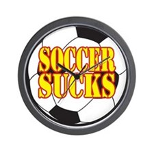 Soccer widow t Wall Clock