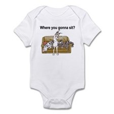 4on Where You Gonna Sit Infant Bodysuit