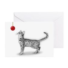 Bengal & Christmas Ornament Card (pkg 6)