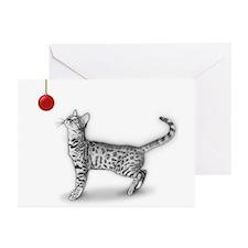 Bengal & Christmas Ornament Card (pkg 6)