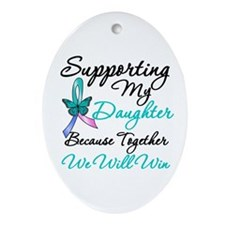 Thyroid Cancer Daughter Oval Ornament