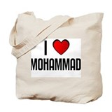 I LOVE MOHAMMAD Tote Bag