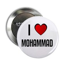 "I LOVE MOHAMMAD 2.25"" Button (10 pack)"