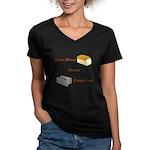 Wheat vs. Gluten Free Women's V-Neck Dark T-Shirt