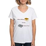 Wheat vs. Gluten Free Women's V-Neck T-Shirt