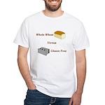 Wheat vs. Gluten Free White T-Shirt