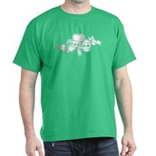 Boston on Shamrock T-Shirt