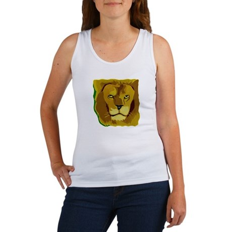 Yellow Eyes Lion Women's Tank Top