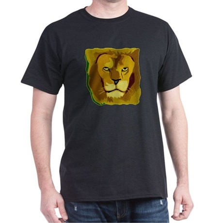 Yellow Eyes Lion Dark T-Shirt