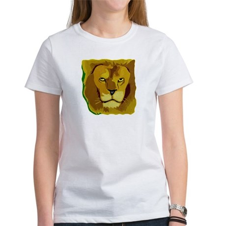 Yellow Eyes Lion Women's T-Shirt