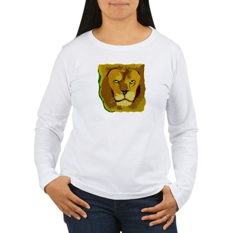 Yellow Eyes Lion Women's Long Sleeve T-Shirt