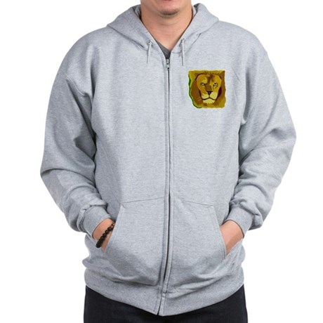 Yellow Eyes Lion Zip Hoodie