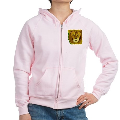 Yellow Eyes Lion Women's Zip Hoodie
