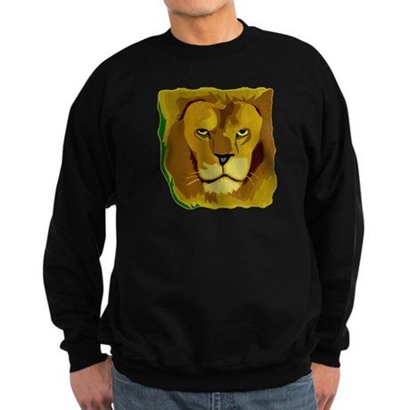 Yellow Eyes Lion Sweatshirt (dark)