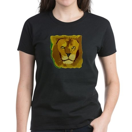 Yellow Eyes Lion Women's Dark T-Shirt