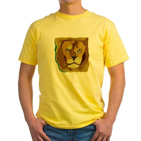 Yellow Eyes Lion Yellow T-Shirt
