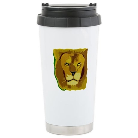 Yellow Eyes Lion Ceramic Travel Mug