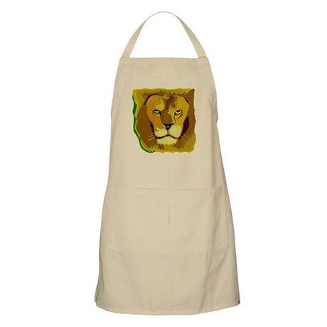 Yellow Eyes Lion BBQ Apron
