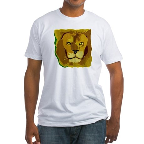 Yellow Eyes Lion Fitted T-Shirt