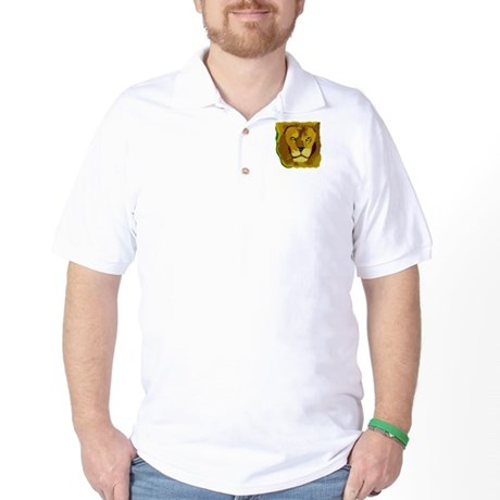 Yellow Eyes Lion Golf Shirt