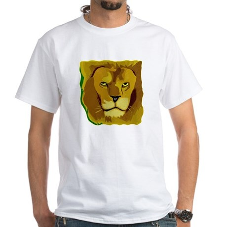 Yellow Eyes Lion White T-Shirt