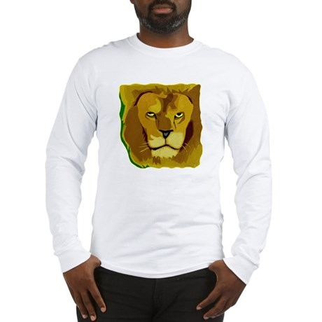 Yellow Eyes Lion Long Sleeve T-Shirt