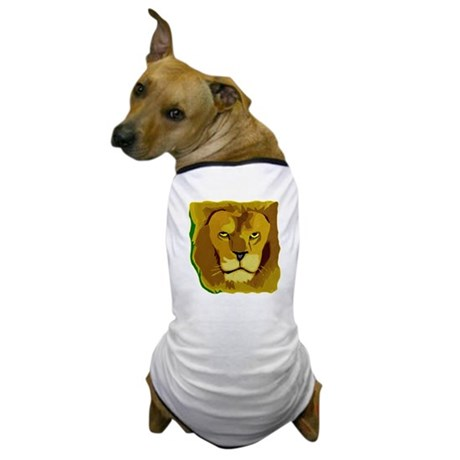 Yellow Eyes Lion Dog T-Shirt