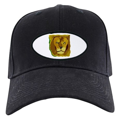Yellow Eyes Lion Black Cap