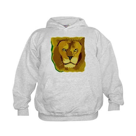 Yellow Eyes Lion Kids Hoodie