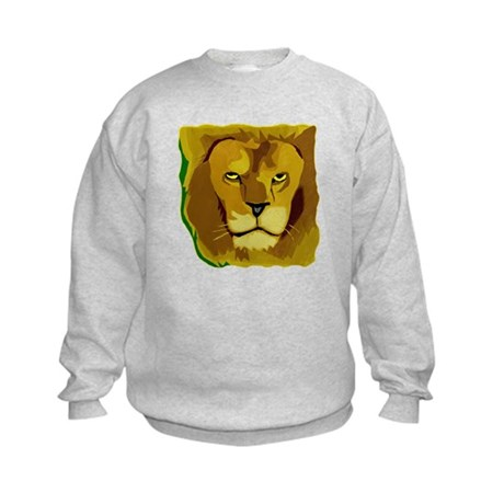 Yellow Eyes Lion Kids Sweatshirt