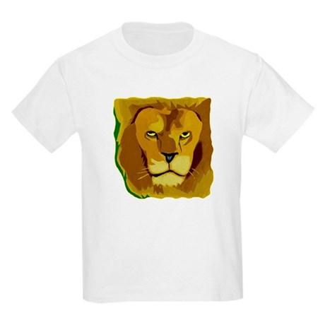 Yellow Eyes Lion Kids Light T-Shirt