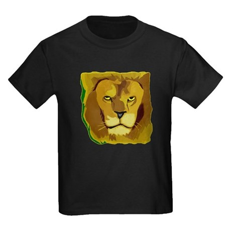 Yellow Eyes Lion Kids Dark T-Shirt