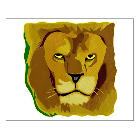 Yellow Eyes Lion Small Poster