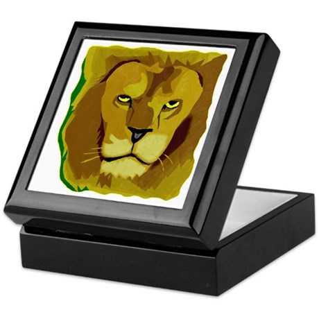 Yellow Eyes Lion Keepsake Box