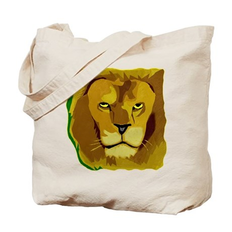 Yellow Eyes Lion Tote Bag
