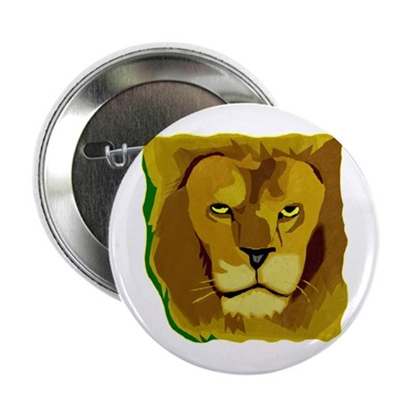 Yellow Eyes Lion 2.25&quot; Button