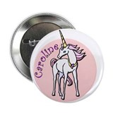 "-Caroline Unicorn 2.25"" Button"