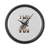 Angry Arab Large Wall Clock