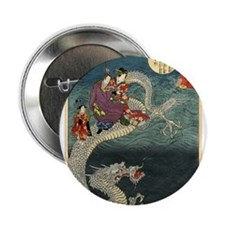 "Kunisada II The Dragon 2.25"" Button"