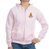 Flower Ribbon KIDNEY CANCER Zipped Hoody