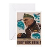 Victory Begins at Home! Greeting Cards (Pk of 20)