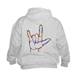 Tiedye I Love You Sweatshirt