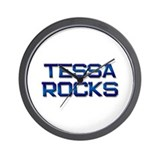 tessa rocks Wall Clock