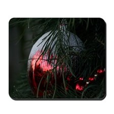 Red Christmas Ornament Mousepad