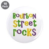 Bourbon Street Rocks 3.5&quot; Button (10 pack)