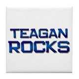 teagan rocks Tile Coaster